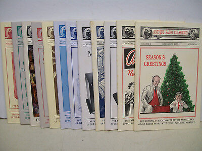"""""""Antique Radio Classified""""--Magazine--All 12 Issues -1989"""