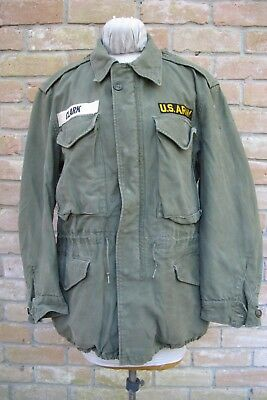 "WELL WASHED Dated 1955 Named US Army M-1951 Jacket, 20 1/2"" Across Chest"