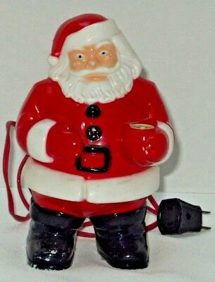 "Vintage ROYALITE Hard Plastic Light Up Santa Claus 1950's Approx 8"" Tall- #935"