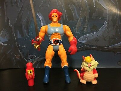 1985 LJN Thundercats Lion-O Battle-Matic Snarf red version vintage action figure
