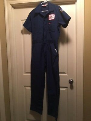 Vintage Cameron Iron Works short sleeve Blue coveralls, never been work worn.