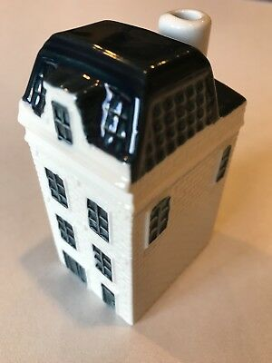 Vintage Collectible KLM Airlines Blue Delft House No. 43.  Empty Due to Customs.