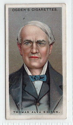 Vintage 1924 Trade Card of THOMAS ALVA EDISON