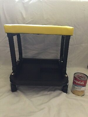 Austin Padded Seat Rolling Garage Stool with Tool Tray Assembled and Unused