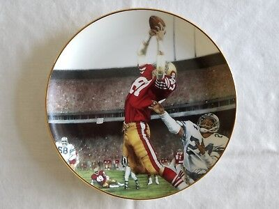 'the Catch' 49Ers Dwight Clark Collectors Plate Dansbury Mint Free U.s. Shipping