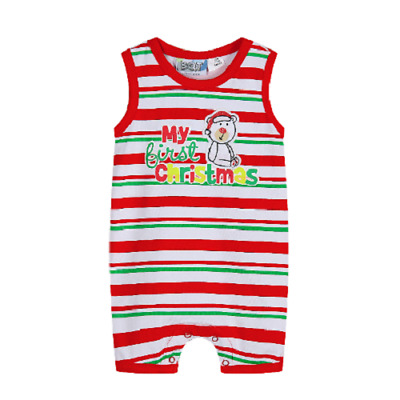Baby Boys My First Christmas Romper