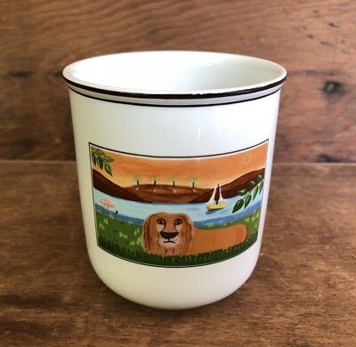 Villeroy & Boch Design Naif Lion 3 Inch Storage Jar Only No Lid or Could Be Cup