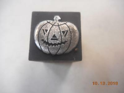 Printing Letterpress Printer Block, Halloween Jack O Lantern Pumpkin Printer Cut