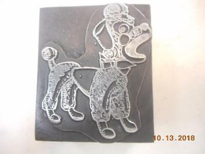 Printing Letterpress Printer Block, Decorative Play Toy Poodle, Printer Cut