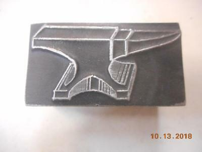 Printing Letterpress Printer Block, Detailed Anvil, Printer Cut