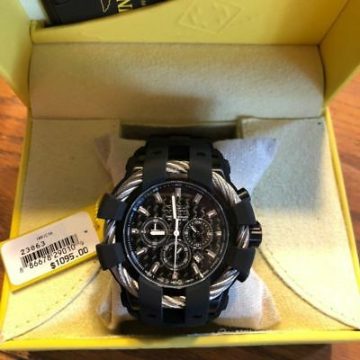 Invicta Mens 50mm Bolt Sport Quartz Chronograph Carbon Fiber Dial Silicone Strap
