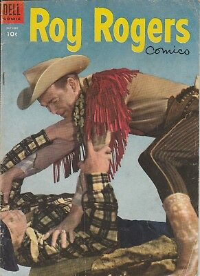 1954 Nov  # 82 Roy Rogers Photo Cover Dell Vintage Comic Book 10 Cent Golden Age