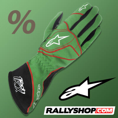 ALPINESTARS TECH 1KX Karting Gloves GREEN kart race CLEARANCE SALE!