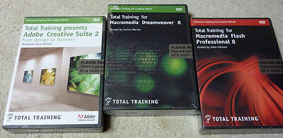 3 Total Training Adobe Creative Suite 2 Dreamweaver & Flash Professional 8 NEW