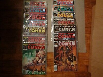 savage sword conan lot , no 101-235,marvel comics.
