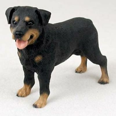 ROTTWEILER DOG Figurine Statue Hand Painted Resin Gift Pet Lovers Black White