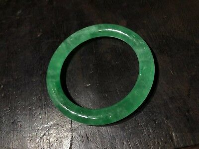Chinese Antique Green Jade Bracelet Bangle Asian China