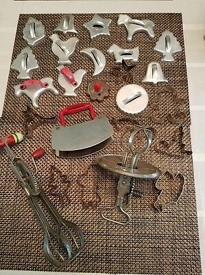 Vintage Lot of Kitchen Utensils And Cookie Cutters