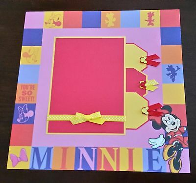 Disney Mickey Mouse 12x12 Premade Double Scrapbook Layout 1000
