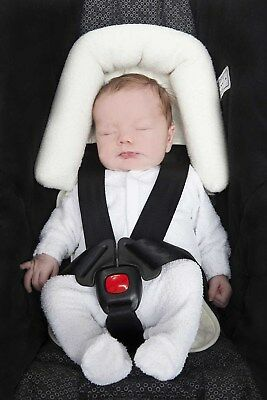 Playette Head Support Ultra Soft Cream - great for car seats,strollers, bouncers
