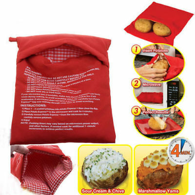 New Potato Express Bag Baked Microwave Cook Reusable Bags Washable Cooking