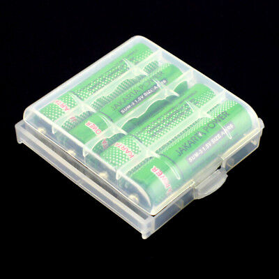 5x AA AAA Cell Battery Storage Case Holder Organizer Box Clear Hard Plastic US