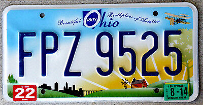 """Good Looking """"Beautiful Ohio"""" at Sunrise License Plate """"Birthplace of Aviation"""""""