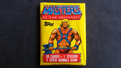 Vintage 1984 Topps Masters of the Universe MOTU mint unopened pack