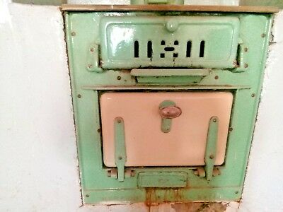 Vintage Stove / Old Oven / Antique Fireplace made of Cast Iron