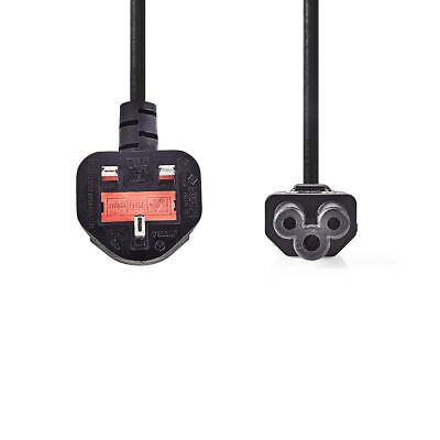Nedis Power Cable Type G Plug (UK) to IEC-320-C5 2m Black CEGP11120BK20
