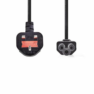 Nedis Power Cable Type G Plug (UK) to IEC-320-C5 3m Black CEGP11120BK30