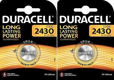 2 Piles CR2430 DURACELL bouton Lithium 3V DL2430 DLC 2027
