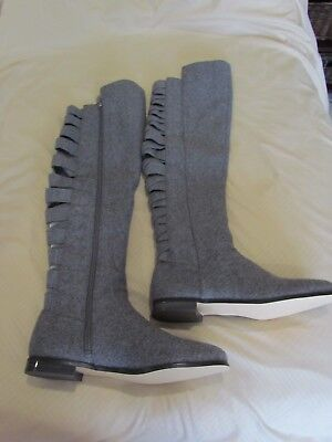 f6bcccd1369 New Nine West Women s Size 8 Gray Textile Eltynn Over-The-Knee Tall Boots