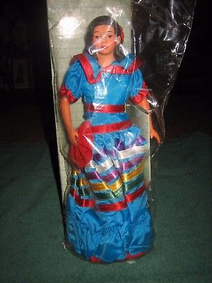 "1990 Vtg ""lupita"" From Mexico International Porcelain Doll Collection / Avon New"