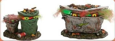 Department 56 Halloween - Spooky Trash Cans #4024036 - RETIRED