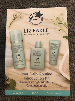 Liz Earle Your Daily Routine Introduction Kit ~ Oily / Comb 💕Xmas Present 💝