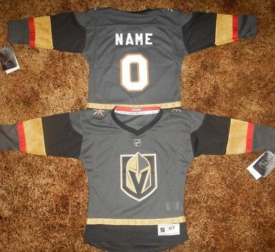best service 63b37 75fa3 LAS VEGAS GOLDEN Knights Kids Size 4/7 NHL Hockey Jersey add any name &  number