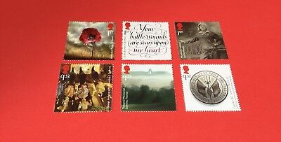 GB 2016 The Great War 1916 Set Of 6 Stamps MNH