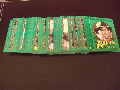 Raiders of the Lost Ark Trading Cards.