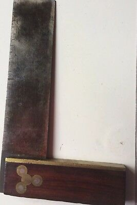 Vintage Square Wood Steel Brass Trim