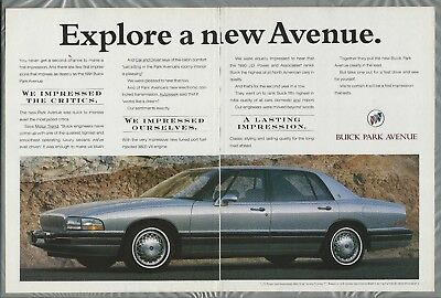 1991 BUICK PARK AVENUE 2-page advertisement, Park Avenue Sedan
