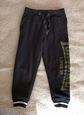 Lonsdale Boys black Track Pants size 4