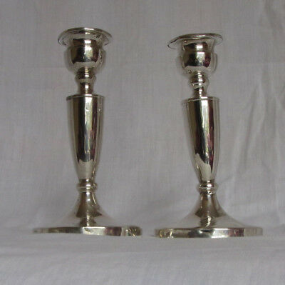 Pair of Sterling Silver Candlesticks - 1922 by Mappin and Webb