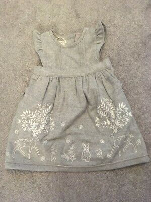 Monsoon Girls Grey Dress Size 18-24 Months BNWT