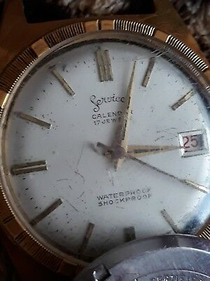 Vintage Mens Services watch. Military piece.Works on and off.Needs a service.