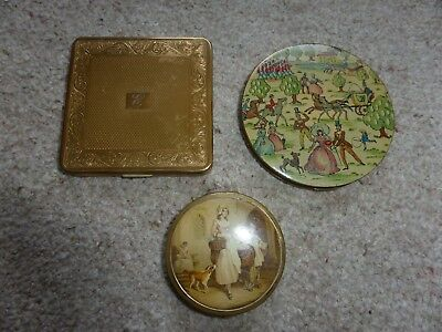 3 Vintage Compacts - Kigu, Yardley & Vogue - Free P&P
