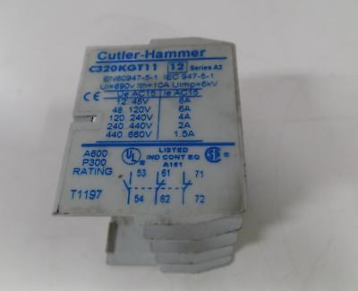 Cutler-Hammer Auxiliary Contact Block C320Kgt11