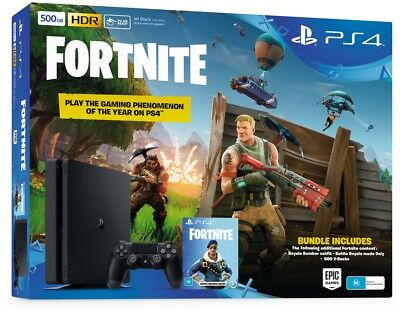 Sony PlayStation 4 PS4 500GB Fortnite Bundle