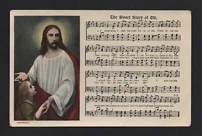 OLD POSTCARD Religious Song Card THE SWEET STORY OF OLD Reid Brothers Ltd