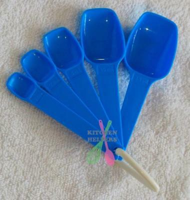Tupperware Bake 2 Basics Measuring Spoons- Blue - Brand New